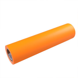 FLUORESCENT ORANGE ADHESIVE VINYL
