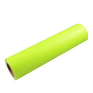 FLUORESCENT YELLOW ADHESIVE VINYL