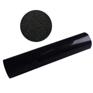 MULTI BLACK GLITTER HTV