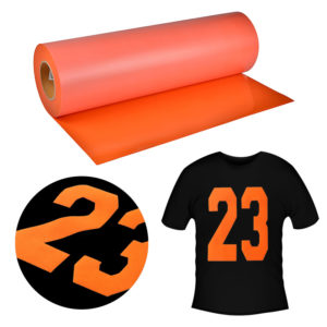 Orange Flock Heat Transfer Vinyl