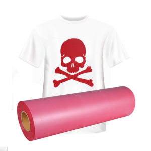 red flock heat transfer vinyl