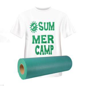 Green Flock Heat Transfer Vinyl