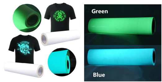 Glow in dark heat transfer vinyl